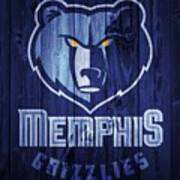 Memphis Grizzlies Barn Door Art Print