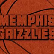 Memphis Grizzlies Leather Art Art Print