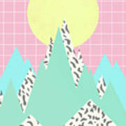 Memphis Mountains  Art Print