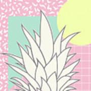 Memphis Pineapple Top Art Print