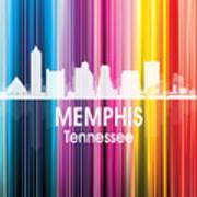 Memphis Tn 2 Squared Art Print