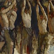 Men At An Anvil, Study For The Spirit Of Vulcan Art Print