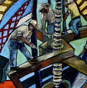 Men At Work Art Print