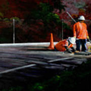 Men At Work II Art Print