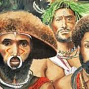 Men From New Guinea Print by Judy Swerlick