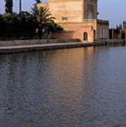 Menara Pavilion In Marrakech Print by Sami Sarkis