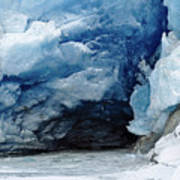 Mendenhall Glacier Face Art Print