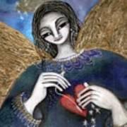 Mender Of Hearts Angel Art Print