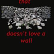 Mending Wall Transparent Background Art Print