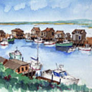 Menemsha Safe Haven Art Print