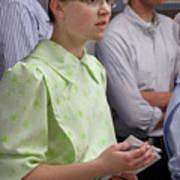 Mennonite Chorus Union Square Station Nyc 5 21 11 4 Female Sing Art Print