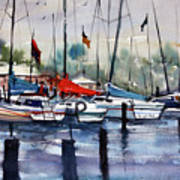 Menominee Marina Art Print