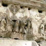 Menorah On The Arch In Roma Art Print by Mindy Newman