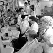 Men's Hairdressing Art Print by Maurice Ambler