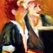 Mentor And Student At The Piano Art Print
