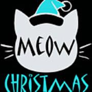 Meow Christmas Art Print