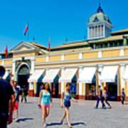 Mercado Centra In Santiago-chile Art Print