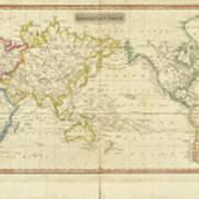 Mercator's Chart Art Print