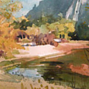 Merced River Encounter Art Print