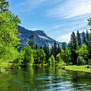 Merced River In Yosemite Valley Art Print