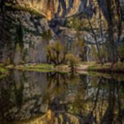 Merced River Morning Light Reflection Art Print