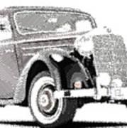 Mercedes Benz 170 S - Parallel Hatching Art Print