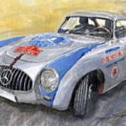 Mercedes Benz 300 Sl 1952 Carrera Panamericana Mexico  Art Print