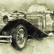 Mercedes-benz Ssk 1 - 1928 - Automotive Art - Car Posters Art Print