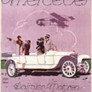 Mercedes Daimler C. 1910 Art Print