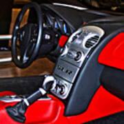 Mercedes Slr Concept Car Interior Art Print