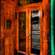 Merchants Cafe Doors Art Print