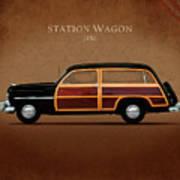 Mercury Station Wagon 1950 Art Print by Mark Rogan