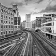 Merging Tracks Art Print