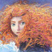 Merida From Pixar's Brave Art Print