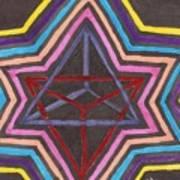 Merkaba Radiating Art Print