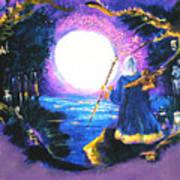 Merlin's Moon Art Print