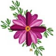 Merlot Cosmos Botanical Art Print