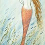 Mermaid And Her Catfish, Goldie Art Print