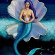 Mermaid Art- Mermaid's Pearl Art Print