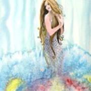 Mermaid In The Mist Art Print