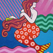 Mermaid In The Morning Art Print