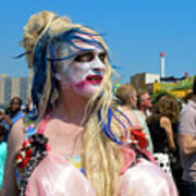 Mermaid Parade Man In Coney Island Art Print