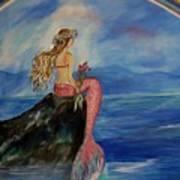 Mermaid Rainbow Wishes Art Print