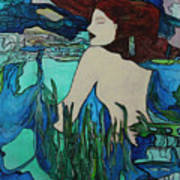 Mermaid  Sleeping Art Print