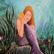 Mermaid Under The Sea Art Print