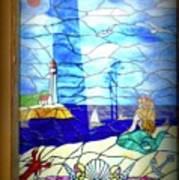 Mermaid Window  Art Print