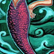 Mermaid With Pearl Art Print