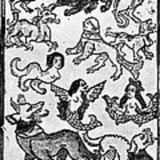 Mermaids, 1475 Art Print