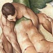Merman Rescue Art Print