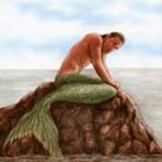 Merman Resting Art Print